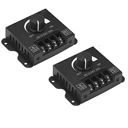 Regulador de luz LED DC12V-24V 30A interruptor de luz regulador para luces LED regulables 5050 3538 cinta de un solo color 2 unidades