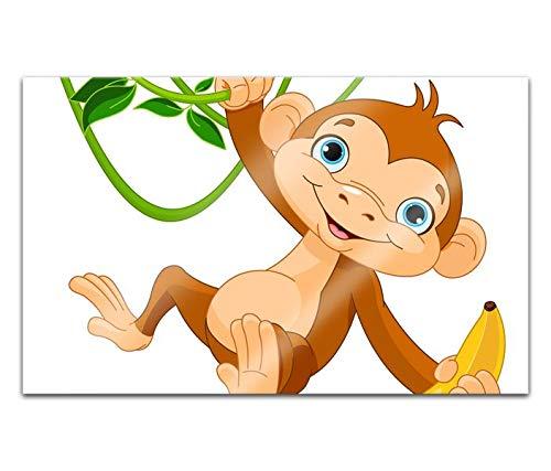 Acrylglasbilder 80x50cm Affe Banane Dschungel Acryl Bilder Acrylbild Acrylglas Wand Bild 14H1615