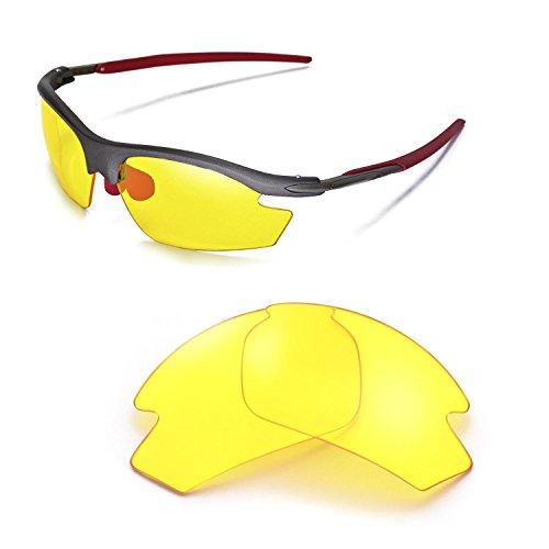 Walleva Ersatzgläser für Rudy Project Rydon Sonnenbrille - Mehrfache Optionen (Gelb)