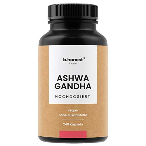 Natürliches Ashwagandha (Schlafbeere) - 240 Kapseln mit hoher Tagesdosis von 1950mg für 3 Monate - Hochdosiert, ohne Zusätze, vegan, laborgeprüft und in Deutschland produziert