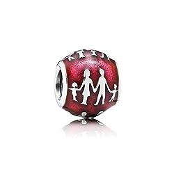 Pandora Silber Charm Family Silhouette 791399EN62