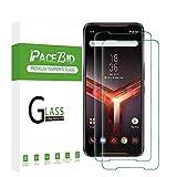 PaceBid 2 Pack Protector de Pantalla Compatible con ASUS Rog Phone II ZS660KL, [Dureza 9H] [Anti-Arañazos] [Anti-Huellas] Cristal Vidrio Templado Premium para ASUS Rog Phone II ZS660KL