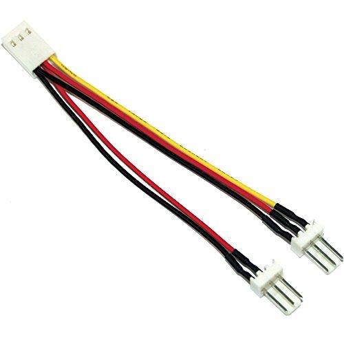 InLine Lüfter-Y-Kabel, 3-pin Molex Buchse an 2x 3-pin Molex Stecker