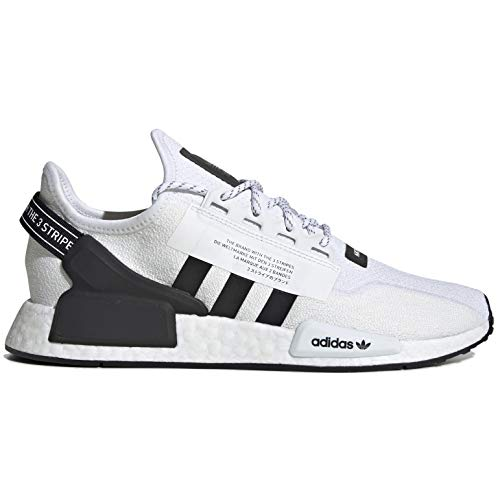 adidas Men's NMD R1 V2 Casual Shoes (12, White/Core Black/White)