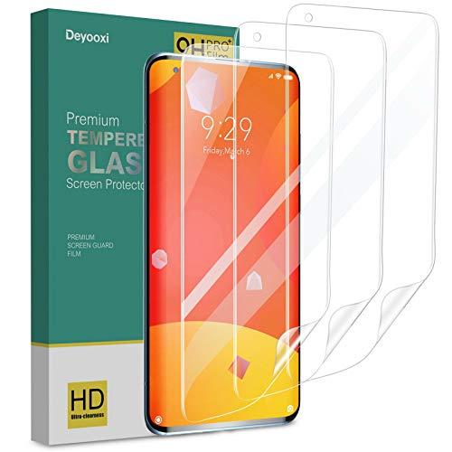Deyooxi 3 Stück Schutzfolie für Xiaomi Mi 10/Xiaomi Mi 10 Pro, Full Screen Weich TPU Bildschirmschutzfolie mit Hohe Empfindlichkeit, Klar HD Vollständige Abdeckung Folie,Nicht Panzerglas