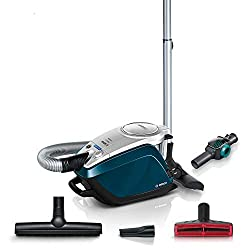 Bosch BGS5FMLY2 Relaxx´x ProFamily Bodenstaubsauger (ohne Beutel starke Reinigungsleistung, Spielzeugfalle, 10 Jahre Motorgarantie, 700 Watt) blau/silber