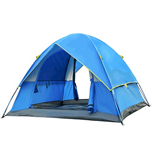 Tente 3-4 Personnes de Plage en Plein air Camping à impériale Double Sortie Famille étanche à la Pluie ZHAOSHUNLI (Color : Blue)