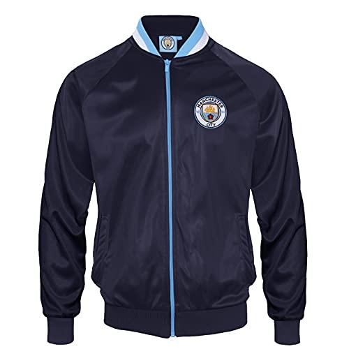 Manchester City FC - Chaqueta de Entrenamiento Oficial - para Hombre - Estilo Retro - XL