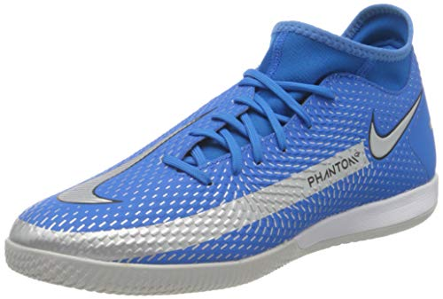 Nike Phantom GT Academy DF IC, Scarpe da Calcio Unisex-Adulto, Photo Blue/Mtlc Silver-Rage Green-Black, 44 EU