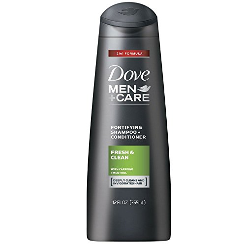 Dove Men+Care 2 in 1 Shampoo and Conditioner Fresh and Clean 12 oz (Pack of 2)