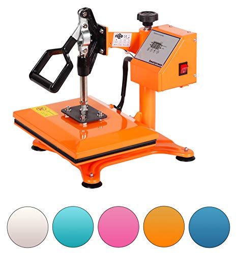 RICOO Power Zwerg-GS, Transferpresse, Orange, Schwenkbar, Thermo-Presse Transferdruck, T-Shirtpresse, Sublimationspresse
