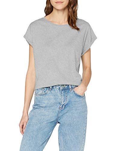Urban Classics Damen Ladies Extended Shoulder Tee T-Shirt, grey, S