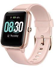 UMIDIGI Smartwatch Fitness Tracker Horloge Uwatch3, 5ATM Waterdichte Smart Watch met Hartslagmeter, Stappenteller, Slaapmonitor, Gezondheids Activity Tracker, Mannen Vrouwen en kinderen, voor Android iPhone, Rose Goud