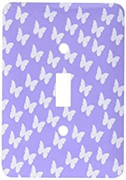 purple and lilac tiled butterfly pattern light switch cover