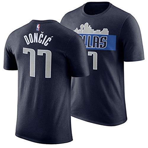 Gflyme Herren Trikot Lone Ranger East Cecchi Kurzarm Mavericks Nowitzki T-Shirt Lose NBA Basketball Training Sportswear Tops Herren (Color : Black 11, Size : XS)