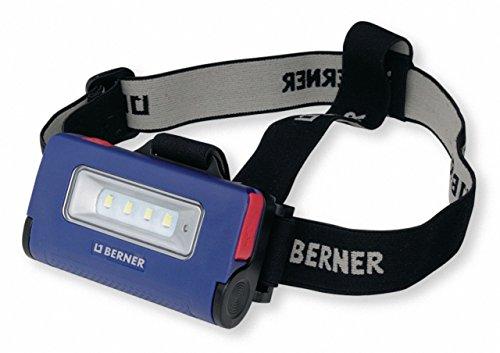 Berner Linterna frontal 2 en 1 con batería.