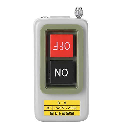 Interruptor de botón de encendido y apagado Interruptor de botón de encendido/apagado de 3P con bloqueo automático AC 220V/380V BS211B