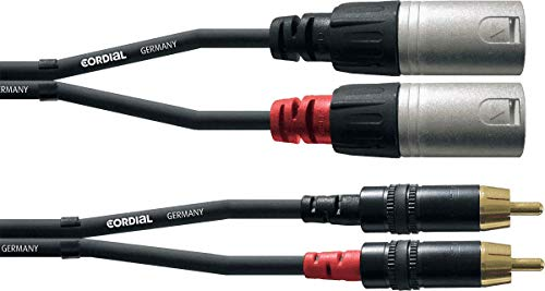 KABEL Doppel-Audiokabel XLR-Stecker/Cinch 3 m