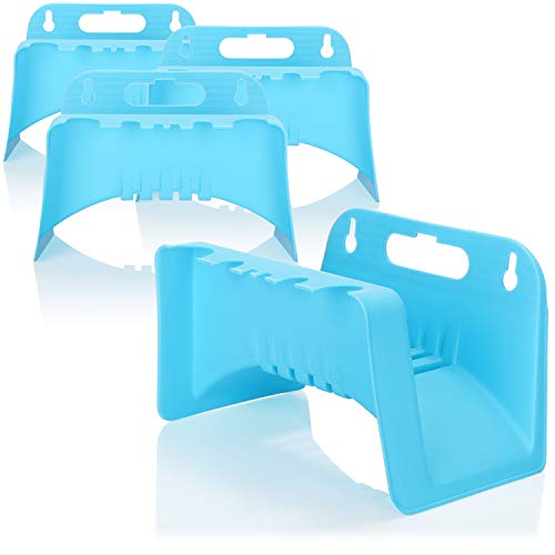 com-four® 4X Soporte para Manguera de jardín - Cuerda y Soporte para Manguera de plástico para jardín, Bodega, cobertizo (Soporte de Manguera plastico 4 Piezas)