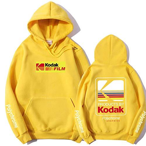 HNOSD Neue 2019 Hoodie Sweatshirt Männer Frauen Mode Herbst Winter Streetwear Hoodies Hip Hop Kodak Hoodies Männer Gelb XMS098 M
