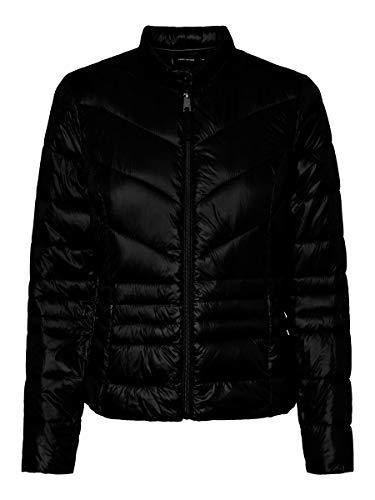 Vero Moda Vmsorayasiv Short Jacket Boos Chaqueta, Negro (Bla