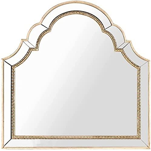 QDY väggmonterad retro badrumsspegel hem sovrum europeisk stil fåfänga spegel för öppen spis badrum spegel dekoration, 70 x 80 cm