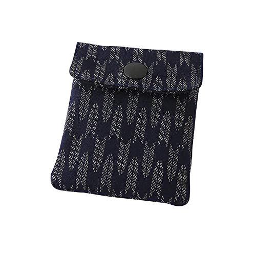 携帯灰皿 おしゃれ かわいい 和風 矢絣 紺色 ネイビー 匠の技 河島彰子作 インナーリフィル合計2個付属 日本製