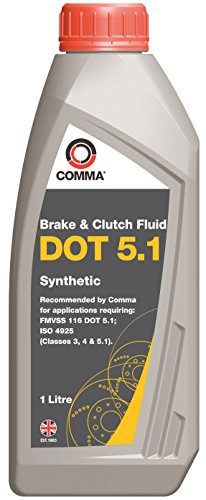 Comma BF51L 1L Dot 5.1 Synthetic Brake Fluid