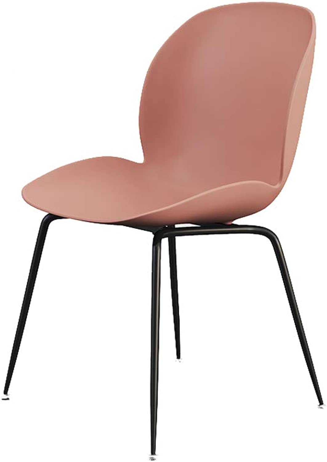 Ailj Dining Chair, Iron Lounge Chair Home Chair Office Chair Restaurant color Chair Hotel Chair (3 colors) (color   Pink)