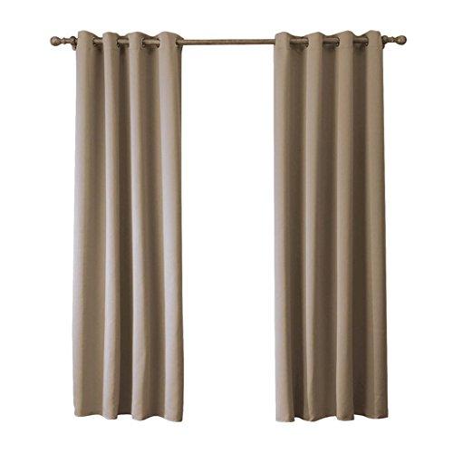 TSJT Moderne Minimaliste Mode Salon Balcon Rideaux Écrans Chambre Impression Pure Brown Blackout Rideaux Set De 2 , 140*220cm