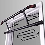 ENAVANT Fold-able Metal Doorway Pull Up Bar, with Suspension Trainer Strap Included, Compatible