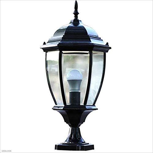 Verlichting Light Post, lantaarn, gazon, blik op de binnenplaats, Villa Outdoor vloerlamp Unieke aluminium en glas, waterdichte wandlampen, aluminium, glas licht in de binnenplaats