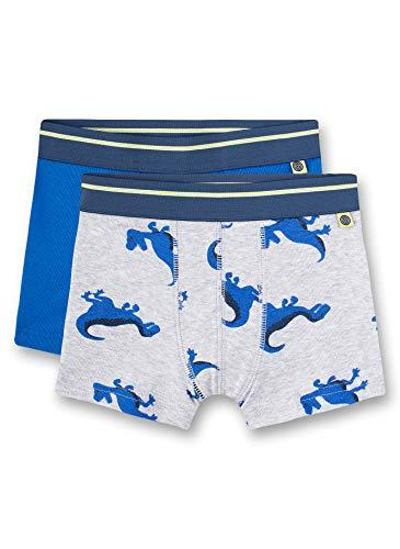 Sanetta Jungen Doppelpack Shorts, Grau (grau 1646), (Herstellergröße:104) (2er Pack)