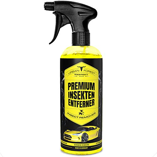 Auto Insektenentferner zur Windschutzscheiben Reinigung | Scheiben Reiniger & Auto Insekten Reiniger für Autopflege | Premium Insekten Entferner extra stark mit Tiefenwirkung von URBAN Forest 500ml