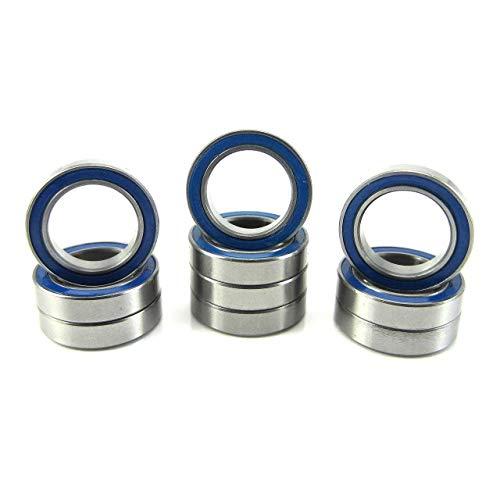 12x18x4mm Precision Ball Bearings ABEC 3 Rubber Seals (10) 6701-2RS-BU