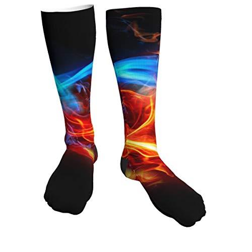 Calcetines deportivos de fútbol quemado para hombres y mujeres, calcetines gruesos para correr, vuelo, viajes, montañismo