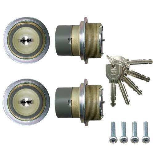 LIXIL(リクシル) TOSTEM ドア錠セット(MIWA URシリンダー)内筒のみ グレー DCZZ0026