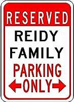 金属サインreidy家族駐車場ノベルティスズストリートサイン