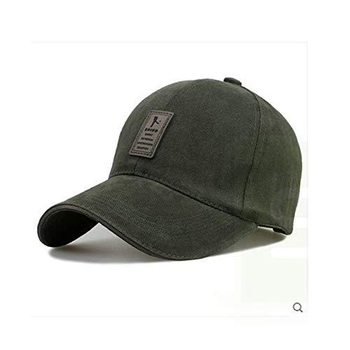 Gorra de béisbol Ajustable para Hombre Sombreros Casuales de Ocio Sombreros de Moda para niño Snapback-Green-Adjustable