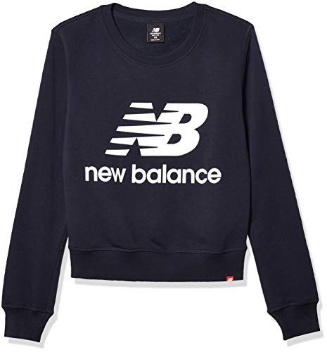 New Balance Herren Essentials Stacked Logo Crew T-Shirt, Eclipse, 2XL