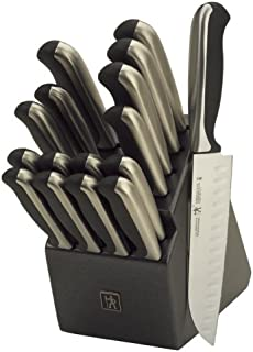 J.A. Henckels International 15505-000 Everedge Plus Knife Block Set, 17 Piece, Black