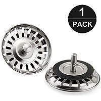 Komake - Tapón colador para fregadero de cocina de acero inoxidable de repuesto