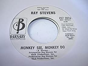 RAY STEVENS 45 RPM Monkey See, Monkey Do / America, Communicate With Me