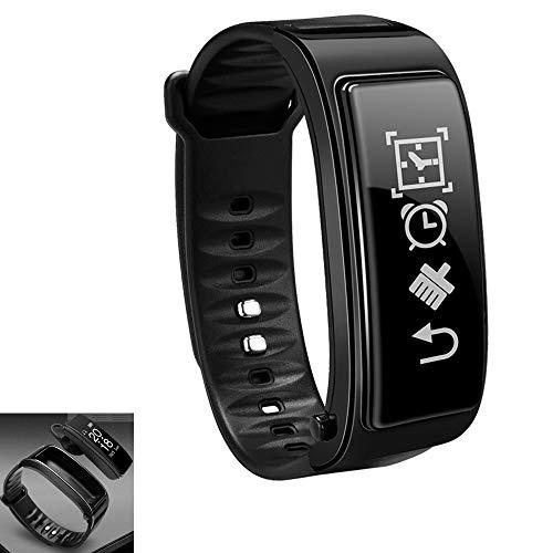 NCBH Bracelet à Puce avec des écouteurs 0,96 écran Tactile Smart Montre Bluetooth Casque 2 en 1 Messagerie instantanée Smart Reminder de détection pour Les Femmes Hommes Enfants