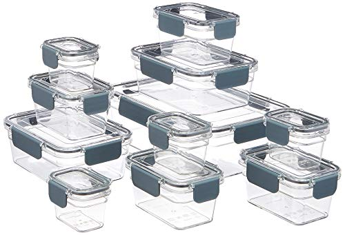 AmazonBasics - Tritan-Frischhaltedose mit Verschluss, 22er-Packung (11 dosen + 11 deckeln)