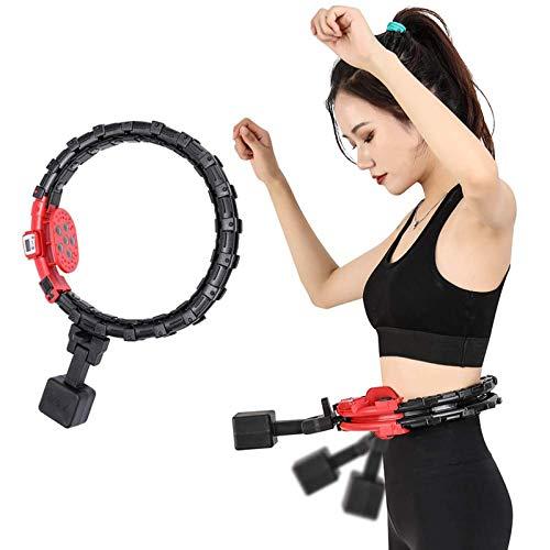 VCXZ Fitness Hula Hoops Equipment Terapia magnética Hula Hoop, 19 Secciones extraíbles Sports Fitness Hula Hoop 1,2 kg, 25 imanes de Infrarrojos