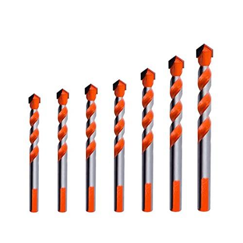 Fxdcy Conjunto de Trabajo de perforación de Cristal de cerámica de Broca multifunción Juego de Broca de torsión (Color : 7)
