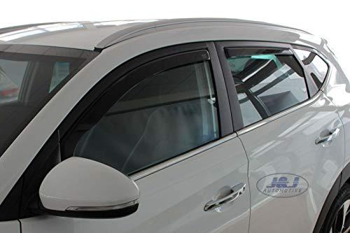 Deflecteurs dair d/éflecteurs de Vent Compatible avec Nissan Juke 2010-pr/és 2 pi/èces J/&J AUTOMOTIVE