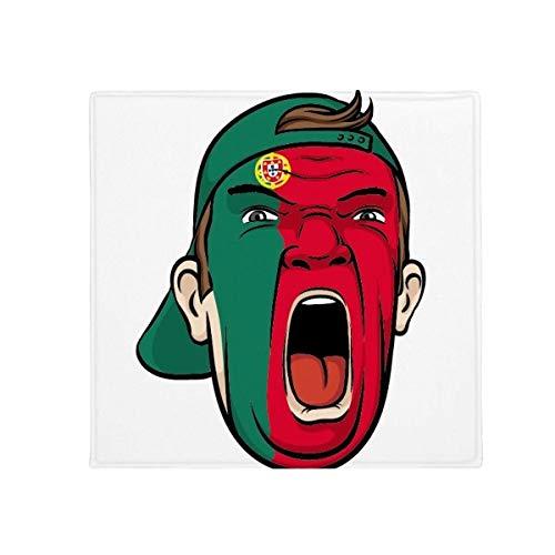 DIYthinker Portugal Flagge Gesicht Make-up Maske Screaming Gap Anti-Rutsch Boden Pet Matte quadratisch Home Kitchen Tür 80cm Geschenk