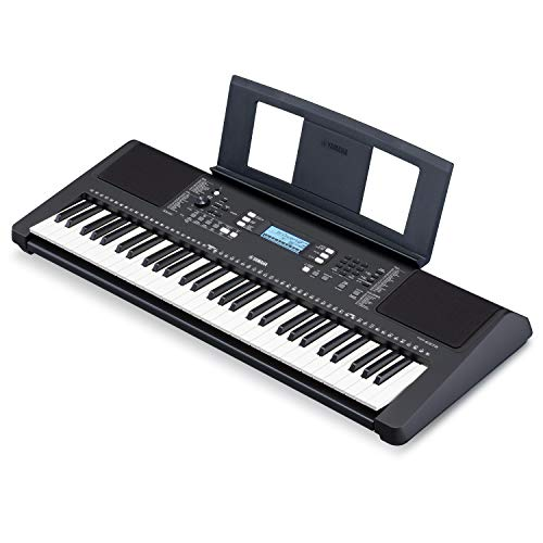 Yamaha PSRE373 61-Key Touch Sensitive Portable Keyboard (Power Adapter Sold Separately)